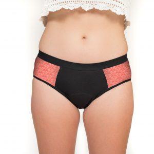 Culotte menstruelle pour ado- Wen Up Charlotta Corail